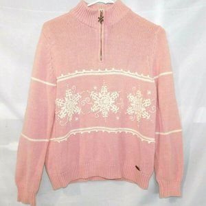 Northern Reflections S Pink Snowflake Sweater